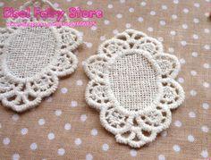 Wholesale Cloth Oval Paste Fabric Paste, DIY Lace Decoration, Sewing Cotton Lace Decoration 5x3.5cm 30pcs/lot(Hong Kong)