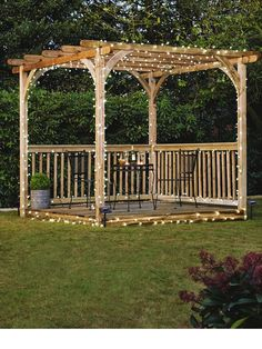 Larchlap Patio Deck Kit with Pergola Very.co.uk