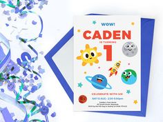 These printable space birthday invitations are perfect for a boys first birthday and are also suited for other ages and are great gender neutral invitations. These invitations can be personalised for any age.   This listing is for a printable, digital file, which we will personalise for you.  • 3 SIZES: 5x7, A5 (148x210mm) or A6 (105x148mm)  • FILE TYPE: pdf or jpeg  • Minor text changes are permitted (as long as the text length is roughly the same)…