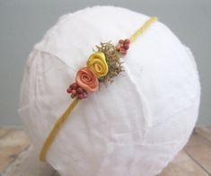 Fall Baby Headband Fall Flower Crown Newborn Photo Prop