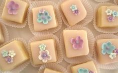 Such Pretty Things: Mother's Day Petit Fours Part II: Baking & Decorating