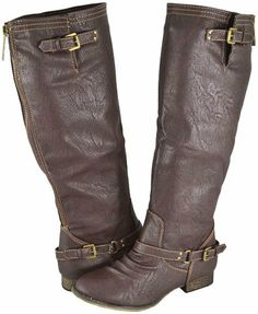 AwesomeNice Breckelle Outlaw-11 Lt Brown Women Riding Boots