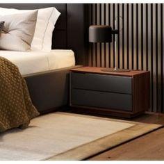 Unique Bedside Tables, Bedside Table Decor, Walnut Bedside Table, Bedside Table Design, Side Tables Bedroom, Nightstand, Bedroom Bed Design, Bedroom Furniture Design, Bed Furniture