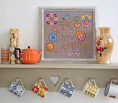 Felicity Hall's 'Share a little happiness' sampler from CrossStitcher issue 241