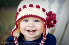 Knit berry hat