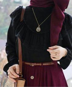 Modest Fashion Hijab, Modern Hijab Fashion, Muslim Women Fashion, Modesty Fashion, Hijab Fashion Inspiration, Abaya Fashion, Fashion Moda, Fashion Outfits, Hijab Fashionista
