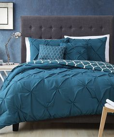 Another great find on #zulily! Light Teal Madrid Five-Piece Pinch-Pleat Comforter Set #zulilyfinds