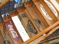 painted wooden crate stairs  #jeanniemai #kitchencousins #HDTV #kitchenmakeover #luxkitchen #hollywoodhunter #hgtv #celebritykitchen  #CaesarstoneUSA #bigchillfridges