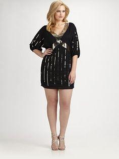 Sheri Bodell, Salon Z  Plus Size Beaded Dress $286.30
