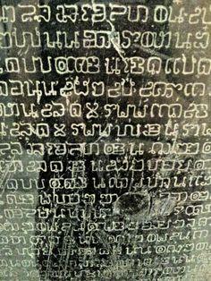 The oldest handwriting in thai language