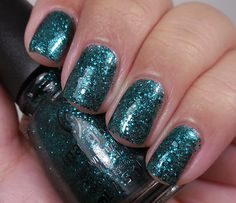 China Glaze: ☆ Pine-ing for Glitter ☆ ...  a green nail polish from the Twinkle Collection Holiday 2014