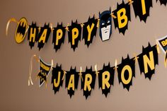 Everything you need for a Custom Batman Banner  by reginamarieholt, $20.00