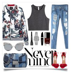 """Never Mind"" by tamaramanhardt ❤ liked on Polyvore featuring MICHAEL Michael Kors, Casio, H&M, Steve Madden, Fendi, Chanel, MAKE UP FOR EVER and Max Factor"