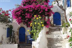 Good morning from the colourful alleys of Kritsa village, Lassithi, Crete.