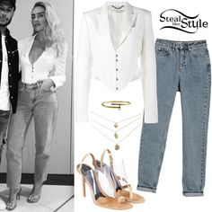 singer in Little Mix Perrie Edwards Style, Little Mix Perrie Edwards, Celebrity Fashion Outfits, Celebrity Style, Celebrities Fashion, Mamma Mia, Little Mix Style, Satin Trousers, Queen Outfit