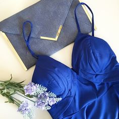 Glamorous Royal Blue Dress Glamorous Royal blue dress from Tea and Cup. Structured. Built in bra. Silver toned hardware. Zip back closure. Adjustable straps. Perfect for a night out! Never been worn. Also available as size Small and Medium.  No trades.  No paypal. Instagram: @Jhennay262 Tea n Cup Dresses