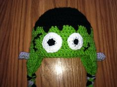 Frankenstein Hat by erinshooknook on Etsy