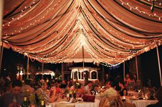 glittery strips with lights under tent? (if we need it?)