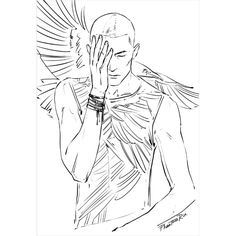 "Ronan (""The Raven Cycle"" by Maggie Stiefvater @maggie_Stiefvater) #Raven_Cycle #Ronan_Lynch #Ronan #Raven_Boys #Dream_Thieves #Blue_Lily_Lily_Blue #Raven_King #guys #boys #raven #wings #Aglionby #books #novels #YA #Maggie_Stiefvater #art #fanart #illustration #sketch #digital #Wacom #PhantomRin"