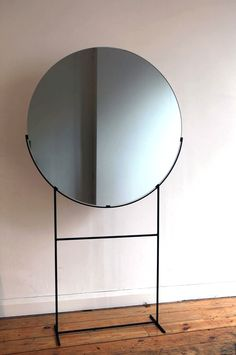 Mirrors – Home Decor : Kim Thome; Enameled Metal and Glass Standing Mirror from Her Installation, 'Works on Reflection', -Read More – Modern Furniture, Furniture Design, Standing Mirror, Deco Design, Interiores Design, Home Furnishings, Home Accessories, Interior Decorating, Design Inspiration