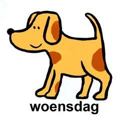 Woensdag is het wif waf hond Pre School, Back To School, Schedule Cards, Starting School, Classroom Organisation, Preschool Kindergarten, Toddler Activities, Diy For Kids, Scooby Doo