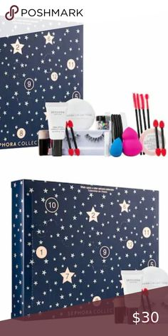 SEPHORA Wish Upon A Star Advent Calendar NEW New in Sealed Box! From Sephora Col...#advent #box #calendar #col #sealed #sephora #star Blending Sponge, Makeup Brush Cleaner, Mascara Wands, Powder Puff, False Lashes, Hair Ties, Makeup Brushes, Advent Calendar, Advent Box