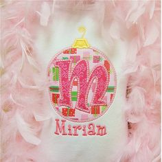 Christmas  Ornament Alphabet Letter Personalized by dcstitches, $21.00