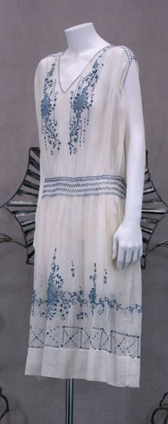 1920's Hungarian Embroidered Day Dress