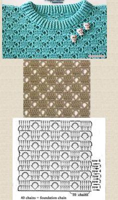 Watch This Video Beauteous Finished Make Crochet Look Like Knitting (the Waistcoat Stitch) Ideas. Amazing Make Crochet Look Like Knitting (the Waistcoat Stitch) Ideas. Gilet Crochet, Crochet Motifs, Crochet Cardigan Pattern, Crochet Jacket, Crochet Diagram, Crochet Stitches Patterns, Crochet Chart, Baby Knitting Patterns, Knitting Stitches