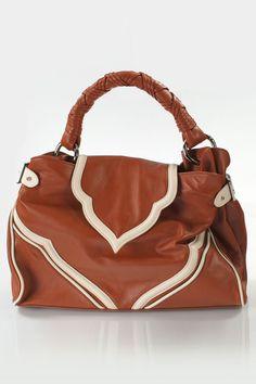 Brown Contrast Handbag