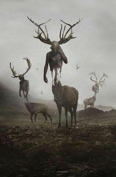 6 dimension deer god