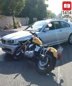 VORDERRAD VERSENKT Hier steht 'ne Harley im BMW