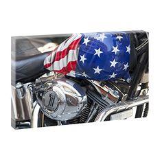 USA - Motorrad   Panoramabild im XXL Format   Trendiger Kunstdruck auf Leinwand Querfarben http://www.amazon.de/dp/B00PUEUX2G/ref=cm_sw_r_pi_dp_DBHBub0XTM2CP
