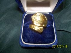 Vintage Oneida Ltd. Wm.A Rogers Gold/Silver Spoon Ring in Gold Alloy..FREE SHIP!
