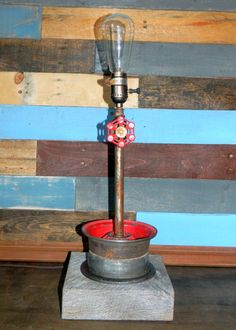 Steampunk Red Valve Lamp by clever RAVEN on Etsy