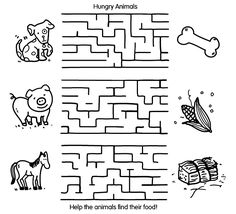 Animal Maze coloring page