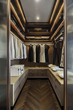 Walk-in closets are one of the most practical divisions in the modern household. An intimate space, which holds valuable personal belongings, and outfits which best represent their users. It is also where most morning or evening routines are played-out, such as getting ready for a solid day of business, or a dinner party.