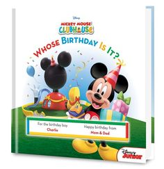 Disney's Mickey Mouse: Whose Birthday is It? Personalized Book - Personalized Books - Books | Tv's Toy Box