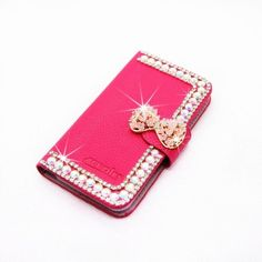 Luxury 3D Fashion Pearl Bow Flower Bling Diamond Bow PU Flip Wallet Leather Case Cover For Smart Mobile Phones (ZTE MAX N9520 Boost Mobile , Rose ) Leather Case, Pu Leather, Leather Wallet, 3d Fashion, Flower Fashion, Iphone Wallet Case, Iphone Cases, Mobile Craft, Diamond Bows