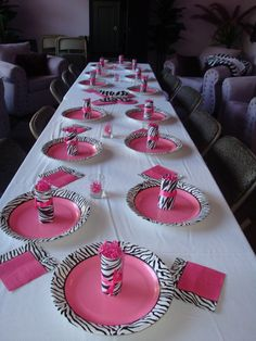 Zebra Print Party Supplies | Destiny Awakes: A Pink & Zebra Print/ Top Model themed 13th Birthday ...