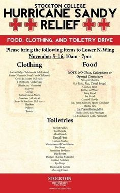 Hurricane #Sandy - GIVE GALLOWAY NJ - http://www.stockton.edu Bring donations requested to Stockton College.
