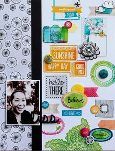 40. I heart wordy bits! Use this layout as inspiration for showcasing wordy bits, strips or brushes as the focus of your layout. - 1pt