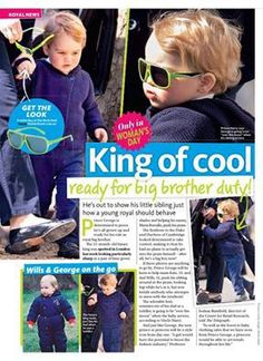 Prince George walking in London (April 2015).