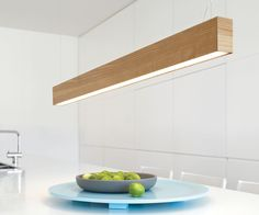 The LEDlux Nord up/down dimmable pendant showcases beautiful craftsmanship with unique Scandinavian style, placing them in a class of their own. The Nord pendant comes complete with integrated Harvatek LEDs. The LEDlux Nord up/down dimmable pendant i Modern Kitchen Lighting, Kitchen Led Lighting, Kitchen Ceiling Lights, Diy Lighting, Kitchen Lighting Design, Ceiling Fan In Kitchen, Track Lighting Kitchen, Interior Lighting, Lights
