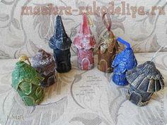 Мастер-класс: Новогодние домики из упаковки от яиц