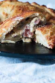 Ham and Cheese Pretzel Calzones are perfect for the Super Bowl