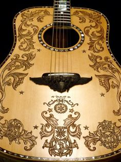 """Hand Made Blueberry Custom """"Patriot"""" Dreadnought Acoustic Guitar by Blueberry…"""