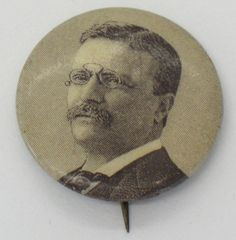 Teddy ROOSEVELT POLITICAL BUTTON Campaign by FindingMaineVintage, $74.00