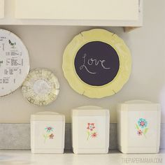 Chalkboard Plate for home decor DIY Project