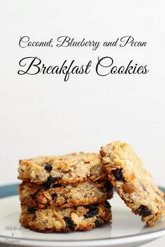 Breakfast Cookies, Coconut cookies, clean eating,